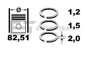 JG DE ANEIS VW TSFI  2.0 06D198151E BWA 82,51 06D198151E