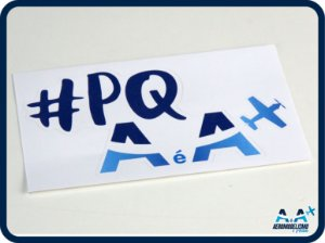 Adesivo #PQAeA Médio