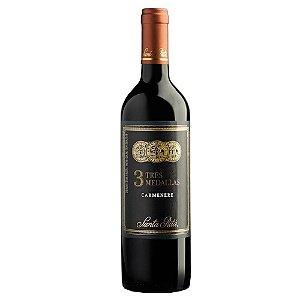 Vinho Tinto Tres Medallas Carmenere Santa Rita 750ml