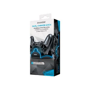 Dual Charge Dock Dreamgear - Azul e Preto - PS4