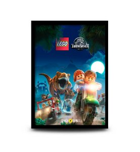 Quadro Lego Jurassic World - 32,5 x 43cm
