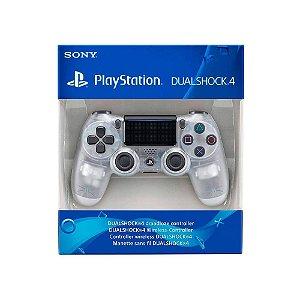 Controle Dualshock 4 1ª Linha - Transparente - PS4
