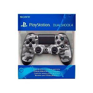 Controle Dualshock 4 1ª Linha - Camuflado Cinza - PS4