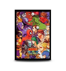 Quadro Marvel vs Capcom - Clash of Super Heroes - 32,5 x 43cm