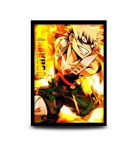 Quadro My Hero Academia - Katsuki Bakugo - 32,5 x 43cm