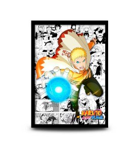 Quadro Naruto Hokage - 32,5 x 43cm