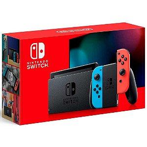 Nintendo Switch - Azul Neon e Vermelho Neon