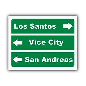 Placa Decorativa #18 Los Santos