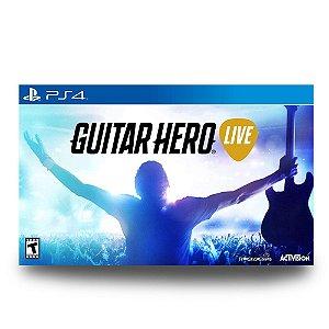 Guitar Hero Live com Guitarra (Usado) - PS4
