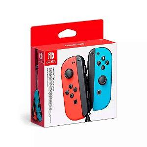 Controle Joy-Con - Vermelho e Azul Neon - Nintendo Switch