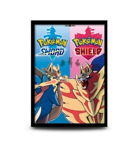 Quadro Pokémon Sword & Shield - 32,5 x 43cm