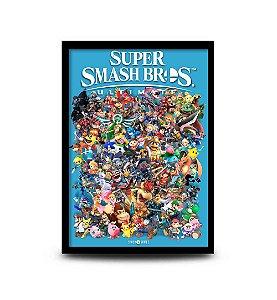 Quadro Super Smash Bros Ultimate - 32,5 x 43cm