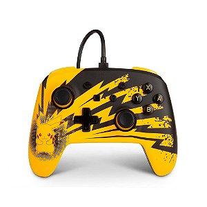 Controle PowerA Nintendo Switch Com Fio - Pikachu Lightning