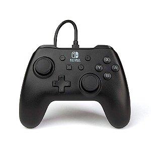 Controle PowerA Nintendo Switch Com Fio - Preto