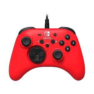 Controle Horipad com Fio para Nintendo Switch - Vermelho