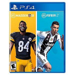 Madden NFL 19 + Fifa 19 (Usado) - PS4