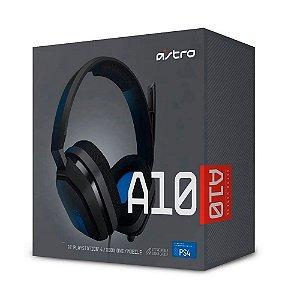 Headset Astro Gaming A10 - PlayStation, Nintendo Switch, PC, Xbox - Preto/Azul