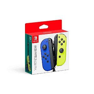 Controle Joy-Con - Azul e Amarelo Neon - Nintendo Switch