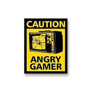 Placa Decorativa #47 Caution Angry Gamer