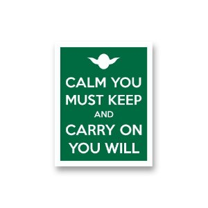 Placa Decorativa #42 Calm You Must Keep
