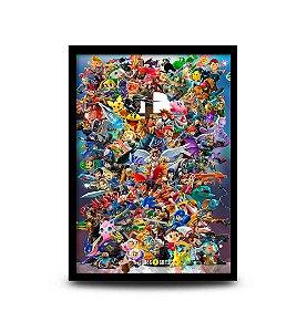 Quadro Super Smash Bros. Ultimate V2 - 32,5 x 43cm