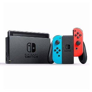 Nintendo Switch Neon Red/Blue 32GB - Novo Modelo (Usado)
