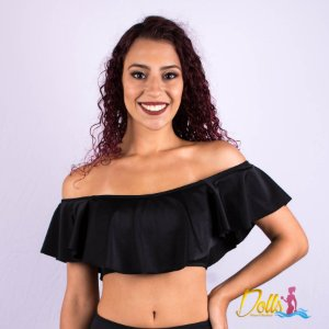 Top Ciganinha Preto