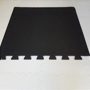 Tatame Preto 1,04m X 1,06m X 10mm + 3 Bordas de Brinde