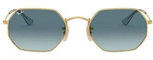 Óculos de Sol Ray-Ban RB3556N Octagonal Azul Degrade