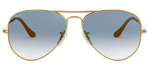 Óculos de Sol Ray-Ban Aviador RB3025 - Azul Degradê