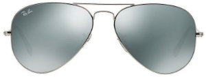 Óculos de Sol Ray-Ban Aviador RB3025 - Prata Espelhado