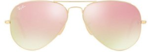 Óculos de Sol Ray-Ban Aviador RB3025 - Rosa Espelhado