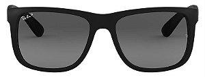 Óculos de Sol Ray-Ban RB4165L Justin Preto Polarizado
