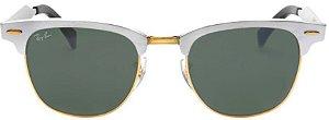 Óculos de Sol Ray-Ban Clubmaster RB3507 Aluminum Prata