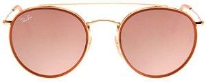 Óculos de Sol Ray-Ban RB3647 Round Double Bridge Rosa