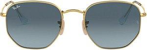 Óculos de Sol Ray-Ban RB3548 Hexagonal Azul Degradê