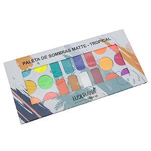 Paleta de Sombras Matte - Tropical Ludurana 20 cores