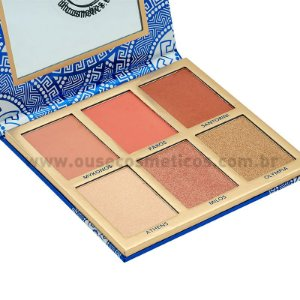 Paleta de Blush Glowing in Greece BH Cosmetics