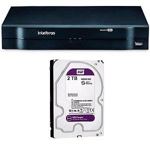 MHDX 1108 C/ HD 2TB - MANAUS - GRAV. DIG. DE VÍDEO 8 CANAIS 1080p LITE - INTELBRAS MULTI-HD® SÉRIE 1000 - H.265, H.265+, Nova interface gráfica, HDCVI + HDTVI + AHD + IP + ANALÓGICO com HD de 2TB instalado