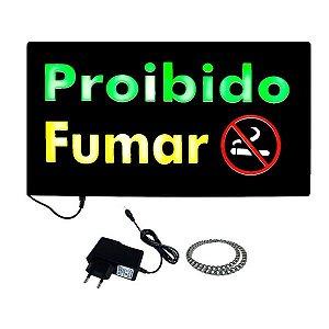 Letreiro Luminoso de LED Proibido Fumar - MPL 6623