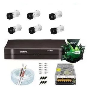 Kit Intelbras 6 Cam 1120b G5 Ir 20m Dvr 8 Mhdx 1108