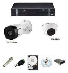 Kit Intelbras 4 Cam 1120b G5 Ir 20m Dvr 8 Mhdx 1108 Hd