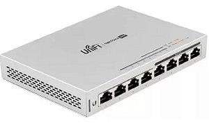 Switch Unifi Ubiquiti 8 Portas Us-8-60w Poe Gigabit Ethernet
