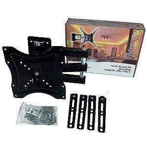 """Suporte Tv 14 -55 Max 50kg Home Design Hdl-117b-2 articulado para tv de""""10 a 55"""""""