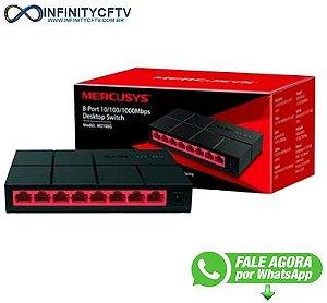 Switch Mercusys Gigabit 8 Portas 10/100/1000Mbps - MS108G
