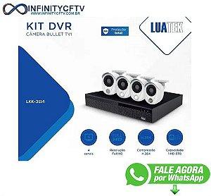 Kit Dvr + 4 Câmeras De Segurança Bullet Hd 1080p Luatek