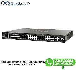 SWITCH 48P CISCO SF500-48P-K9-NA 48 10/100 POE 4P SFP