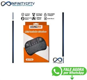 Mini Teclado Wifi Keyboard Controle Com Touchpad Backlit Led Infinity le77716