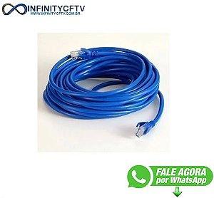 Cabo De Rede Rj45 3m Ethernet Patch Cord Cat5e Azul 3 Metros infinty Cftv