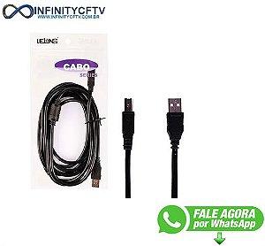 Cabo Usb Para Impressora: Le-902 - 1.8 Metros Infinity Cftv